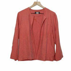 VTG Silk Linen Embroidered Lightweight Jacket
